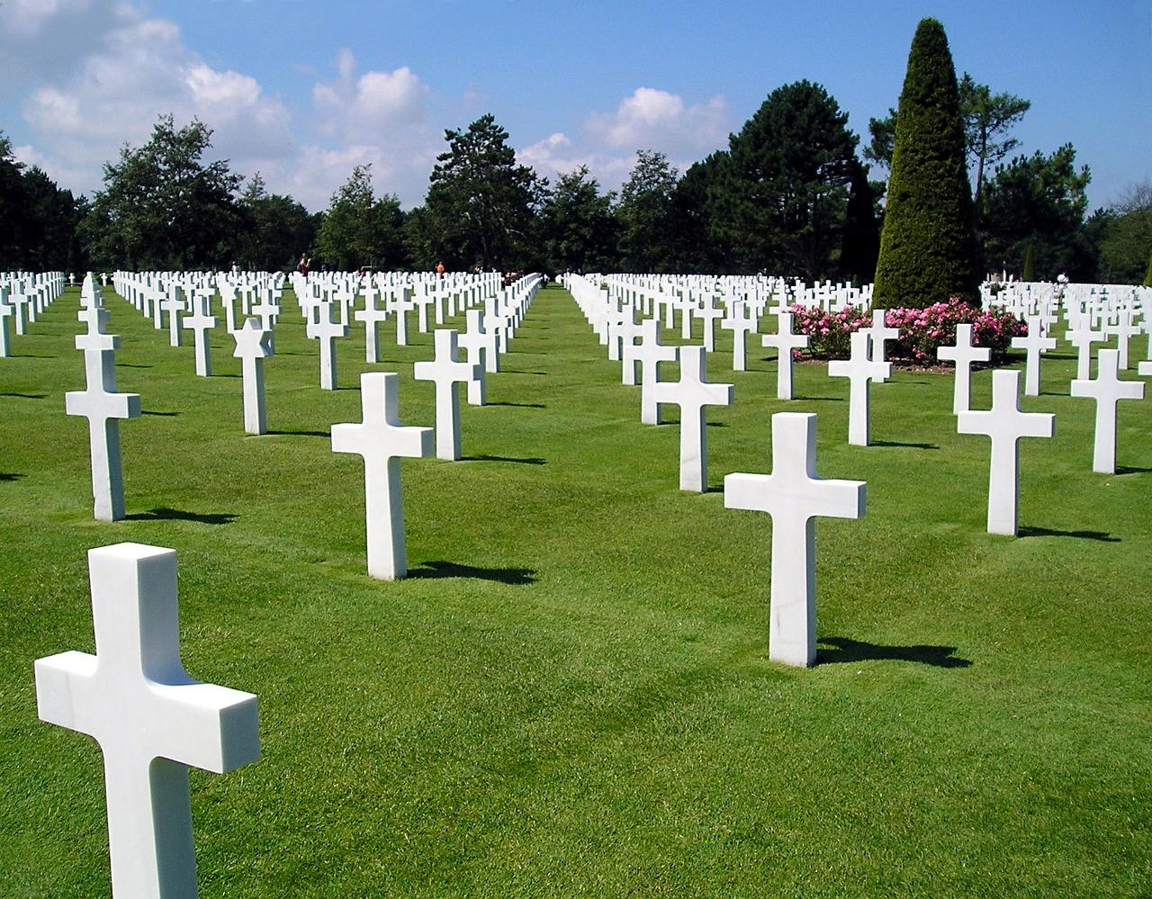 Der amerikanische Soldatenfriedhof in Colleville sur Mer